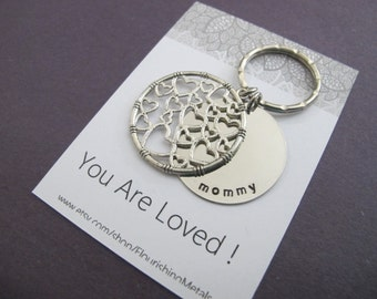 Gifts for mom| You are loved| Heart Key chain| 30th Birthday Gift|  Birthday Gift For mom| 30th birthday card|