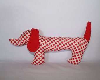 Dog , Sausage dog, puppy plush , soft toy, personalised soft toy