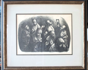 "Sylvia M. Rantz ""Procession of Elders"" Lithograph Signed & Titled by the Artist"