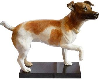 Bronze Sculpture of a Dog by Martha Sulfridge