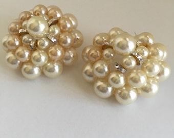 Vintage Pierced PEARL Earrings