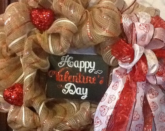 Valentine Deco Mesh Wreath