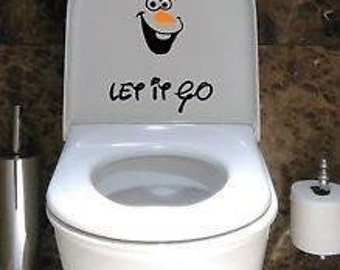 Frozen Olaf let it go toilet seat sticker