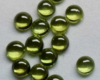 Natural Peridot AAA Quality 6x6 mm Round Cabochon Loose Gemstones