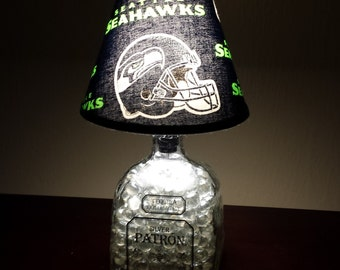 Seattle Seahawks Lamp $39.00 ○ Vivid Team Graphics ○ Silver Polished  Stainless ○ Solid State Quality ○ Metal Reinforced Lamp shade ○ NFL  Licensed ...