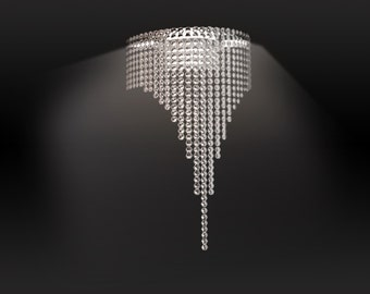 RING WALL SKINNY Crystal chandelier