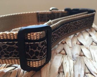 Leopard Adjustable dog collar