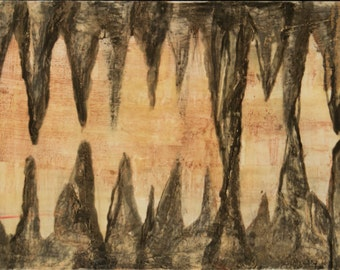 Layers - Encaustic Painting inspired by Luray Caverns