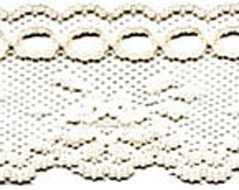 "1 1/2"" Cream Beading Lace Trim Craft Supply Fabric w/ Free Shipping"