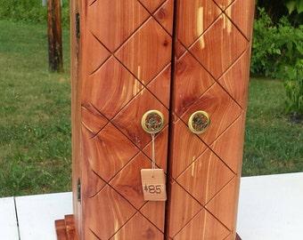 Handmade cedar jewelry box