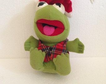 1980's Vintage Plush Kermit the Frog Stuffed Animal