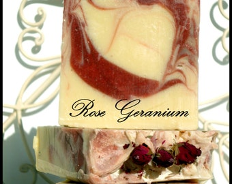 Rose & Geranium Cold Processed Soap