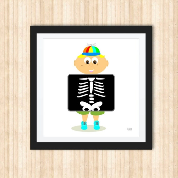 Boy And An X Ray Print Wall Decor Nursery Child Room By Gdandi