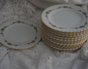 Beautiful K&A Krautheim Selb Bavaria 'Cellini' - 11 dessert plates