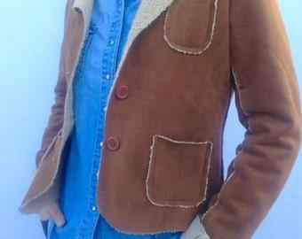 Vintage faux sheepskin coat