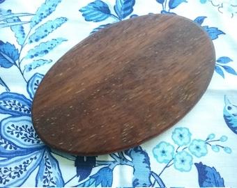 Dark wood cheese board, oval, oiled,  hard wood, handmade, Brisbane