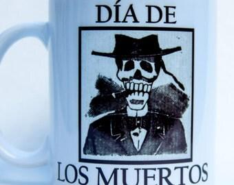 DIA de los MEURTOS mug - by TattooMugLady - Posada style!