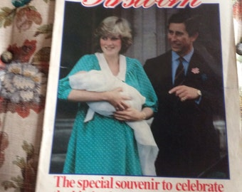 Princess Diana, Prince Charles, Birth of Prince William royalty magazine Firstborn