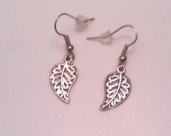 Dainty Palm Leaf Earrings