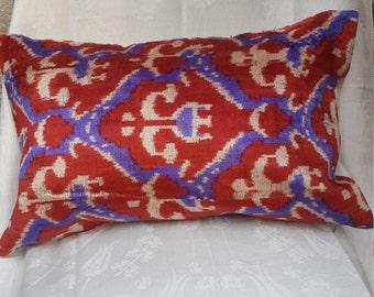 ikat pillow,pillow cover,velvet pillow,decorative pillow,trendy pillow 59x38 cm ('22x'15 inc)  (31)
