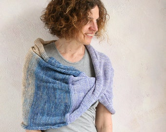 Nursing scarf/ Chunky knit shoulder wrap/ wedding cape/ Christmas knit gift/ Convertible infinity cowl/ neck warmer- Seashell hypoallergenic