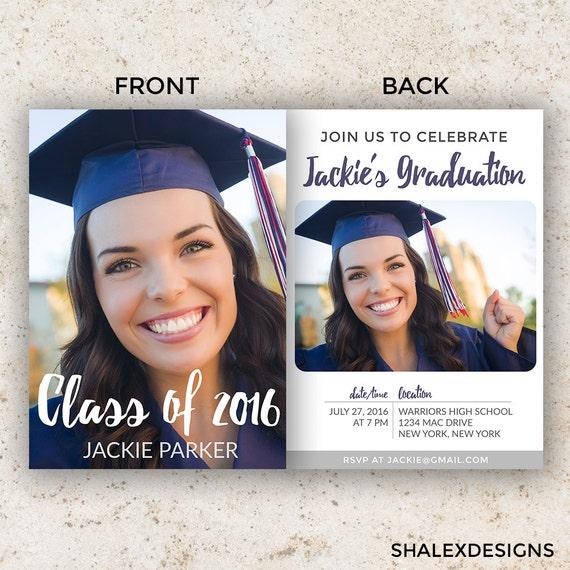 Senior graduation template graduation invitation template for Photoshop graduation templates