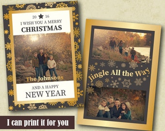 Photo Christmas Card Template, Greetings Photo card, Photo Holiday Card, Printable Christmas Card, Custom Christmas card, Holiday Photo Card
