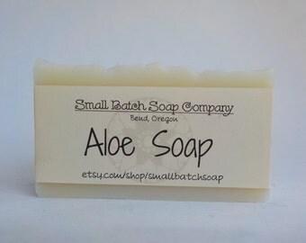 Aloe Soap, Aloe, All Natural Soap, Handmade Soap, Body Soap, Vegan Soap, Gentle Soap, Cold Process Soap, Palm Free Soap, Unscented Soap
