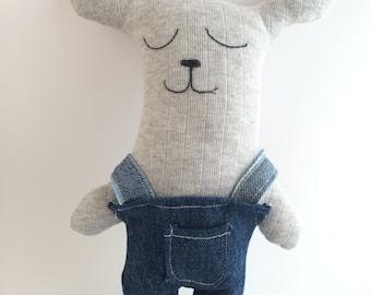 Custom stuffed toy bear. Cute plush bear toy. Unique soft toy bear