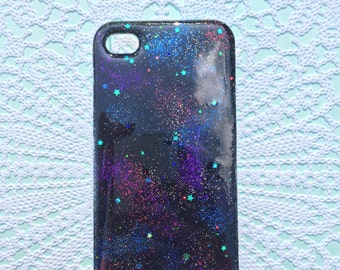 Glittery resin iphone 5s case