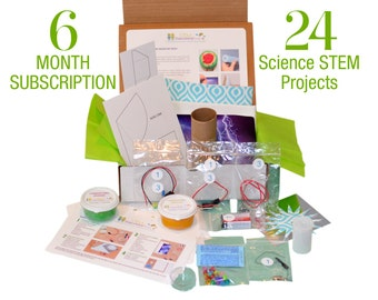 6 MONTH SUBSCRIPTION (24 Projects) - Science Kits for Kids - Science, Technology, Engineering & Math