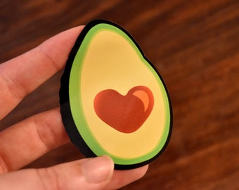 Avocado Vinyl Sticker - I Love Avocados - Heart Laptop Sticker or Car Bumper Decal
