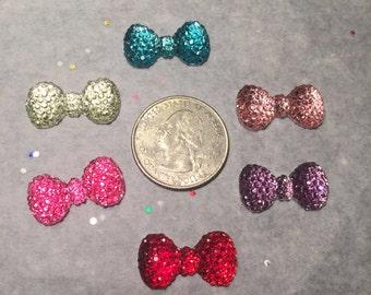 Glitter Bow Embellishment-Glitter Bow  Resin
