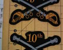 Buffalo Soldiers 9th & 10th Cavalry Patches - Set of 2 BSMC