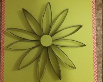 Handmade flower by Empty Toilet paper roll