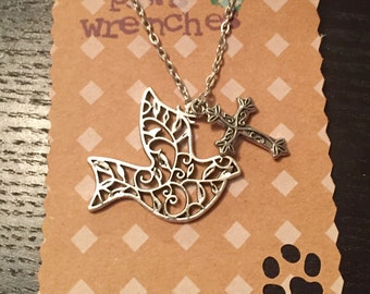 SALE* Dove & Cross Necklace