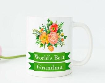 Worlds Best Grandma Mug New Grandma Mug Grandma Cup Grandma Gifts Gifts for Grandma Birthday Gift for Grandma Grandmother Gift Nana Gift w50
