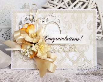 Wedding Greeting Card Two Congratulations
