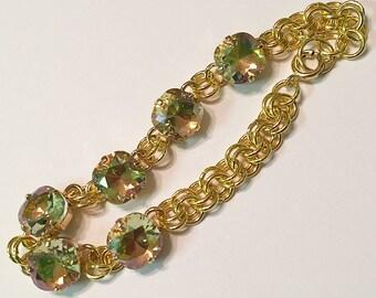 Luminous Green Swarovski Bracelet