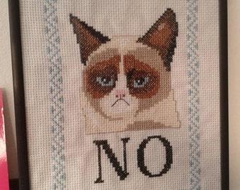 Cross stitch pattern - Grumpy cat