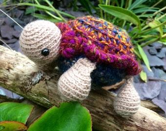 Amigurumi turtle. Sweet crocheted turtle perfect for imaginative play