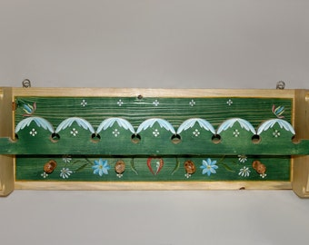 Painted wooden shelf