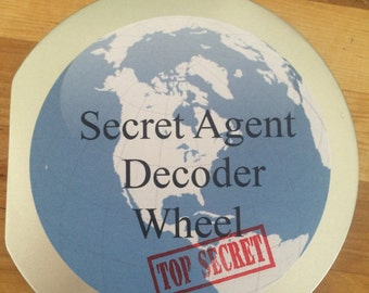secret agent decoder wheel in case