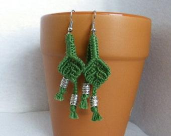 Small Dangle Leaf Earrings
