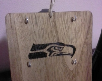 Seattle Seahawks wine charm display