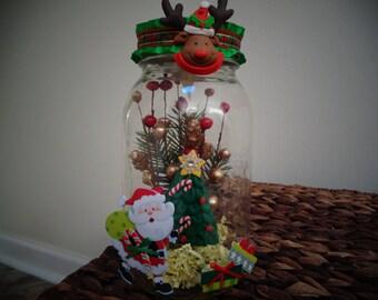 Santa Claus is coming jar light