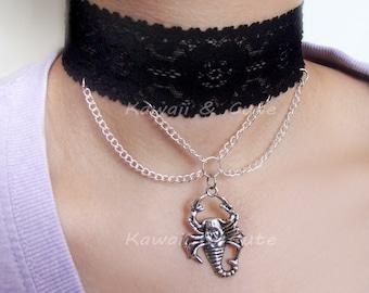 Gothic Necklace: Scorpion