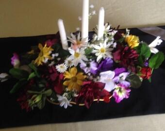 colorful table arrangement.