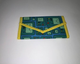 Bmo Adventure Time fabric large wallet with coin compartment