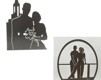 CUSTOM Silhouettes of your photo, from steel or aluminum